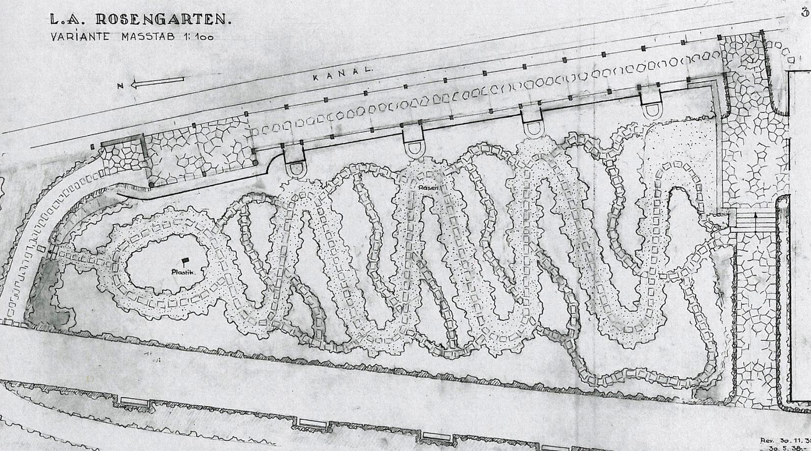 Farschema des Fruhjahrsaspektes im Rosengarten