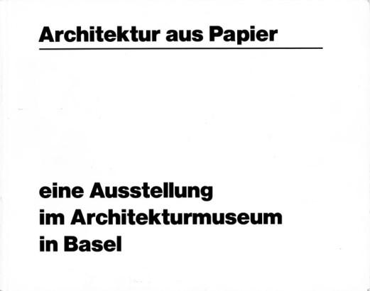 Architektur aus papier