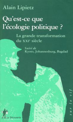 Qu'est ce que l'écologie politique