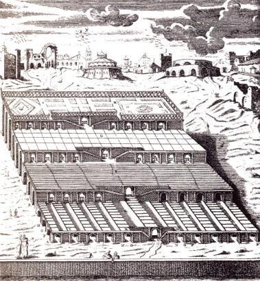 Reconstitution des jardins suspendus de Babylone