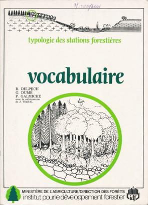 Vocabulaire typologie des stations forestières