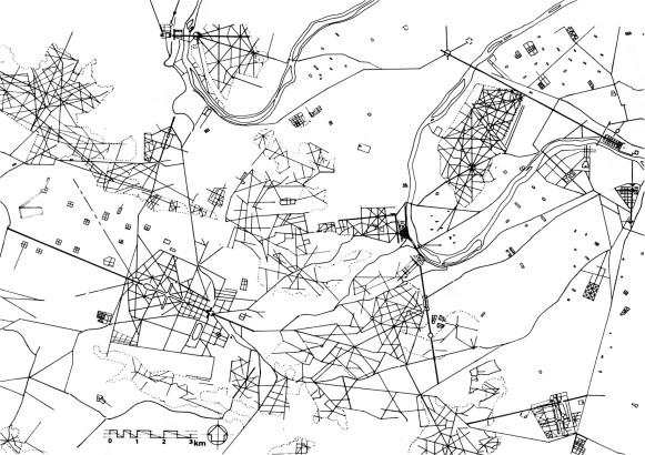 Sudouest de paris, geomorphology axes et avenues d'après la carte des-chasses du roi