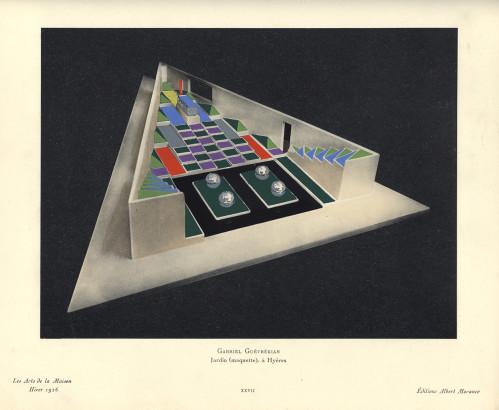 jardin cubiste de la villa Noailles