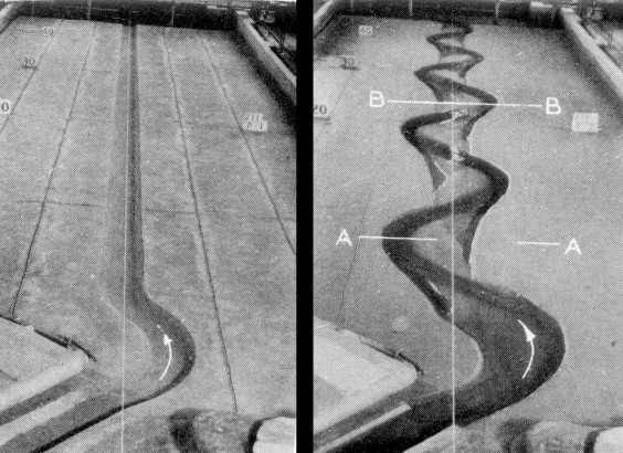 A laboratory study of the meandering of alluvial rivers