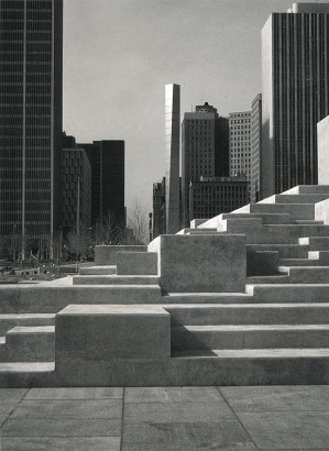 Philip A. Hart Plaza stairs